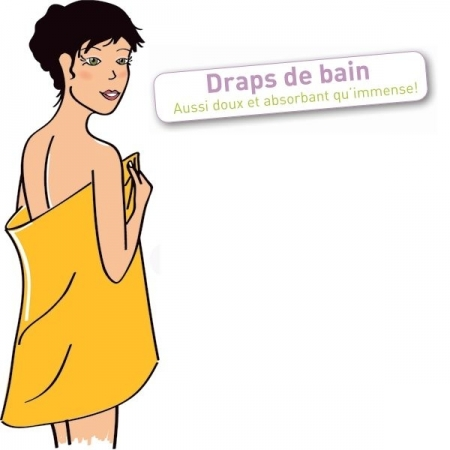 Drap de bain immense ultra-absorbant